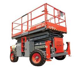 14 Twin Deck Rough Terrain Scissor Lift